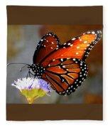 Macro Butterfly Fleece Blanket