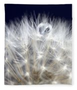 Macro Dandelion Fleece Blanket