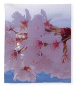 Macro Dc Cherry Blossoms Fleece Blanket