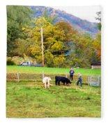 Mac's Farm In Balsam Grove 2 Fleece Blanket