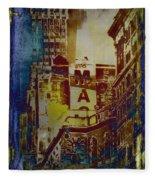 Macys Three - Neo-grundge - Famous Buildings And Landmarks Of New York City Fleece Blanket