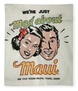 Mad About Maui Fleece Blanket