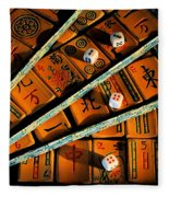 Mad For Mahjong Fleece Blanket