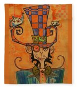 Mad Hatter Fleece Blanket