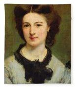 Madame Charles Garnier Fleece Blanket