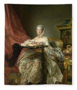 Madame De Pompadour At Her Tambour Frame Fleece Blanket