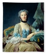 Madame De Sorquainville, 1749 Oil On Canvas Fleece Blanket