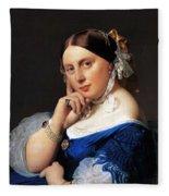 Madame Delphine Ingres Fleece Blanket