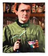 Madame Marie Curie Shaking Up A Killer Martini At The Swank Hipster Club 88 20140625 Fleece Blanket