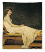 Madame Recamier Fleece Blanket