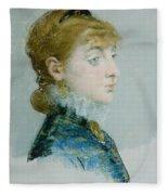 Mademoiselle Lucie Delabigne Fleece Blanket