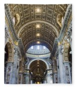 Maderno's Nave Ceiling Fleece Blanket