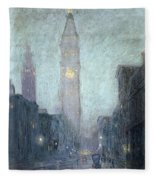 Madison Avenue At Twilight Fleece Blanket