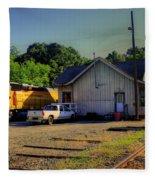 Madison Georgia Historic Train Station Fleece Blanket