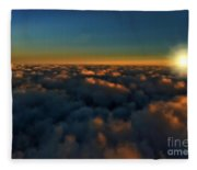 Madison Wi Sunset At 30000 Fleece Blanket