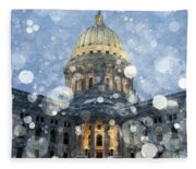 Madisonian Winter Fleece Blanket