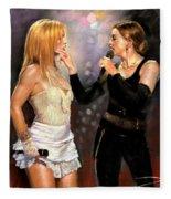 Madonna And Britney Spears  Fleece Blanket