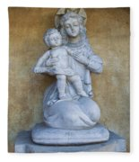 Madonna And Child Carmel Mission Monterey California Fleece Blanket