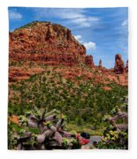 Madonna And Child Two Nuns Rock Formations Sedona Arizona Fleece Blanket