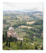 Madonna Di San Biagio Tuscany Fleece Blanket