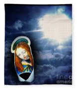 Madonna Lightens The Earth Fleece Blanket