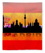 Madrid City Fleece Blanket