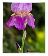 Magenta Iris Fleece Blanket
