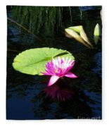 Magenta Lily Monet Fleece Blanket