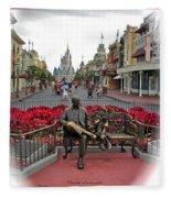 Magic Kingdom Walt Disney World 3 Panel Composite Fleece Blanket