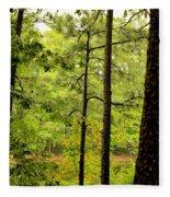 Magic Of The Golden Forest Fleece Blanket