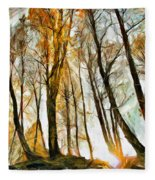 Magical Forest - Drawing Fleece Blanket
