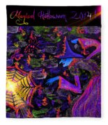 Magical Halloween 2014 V3 Fleece Blanket