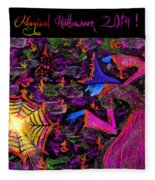 Magical Halloween 2014 V4 Fleece Blanket