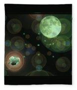 Magical Moonlight Clover Fleece Blanket
