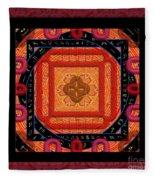 Magical Rune Mandala Fleece Blanket