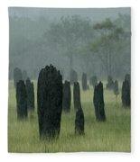 Magnetic Termite Mounds Fleece Blanket