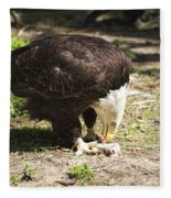 Magnificent Bald Eagle Breakfast Fleece Blanket