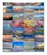 Magnificent Coastal North Carolina Fleece Blanket