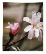 Magnolia Blooms Fleece Blanket