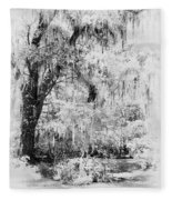 Magnolia Garden Path Fleece Blanket