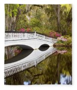 Magnolia Gardens' Bridge Fleece Blanket