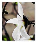 Magnolia In Profile Fleece Blanket