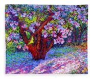 Magnolia Melody Fleece Blanket