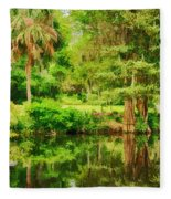Magnolia Plantation Gardens Fleece Blanket