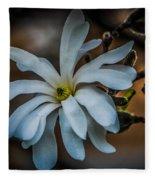 Magnolia Tree Blossum Fleece Blanket