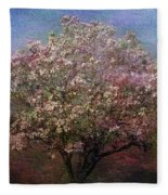 Magnolia Tree In Bloom Fleece Blanket
