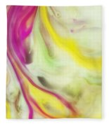 Magnolia Watercolor Abstraction Painting Fleece Blanket