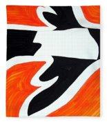 Magpie Original Painting Sold Fleece Blanket