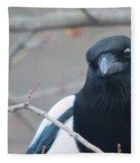 Magpie Portrait Fleece Blanket