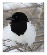 Magpie Profile Fleece Blanket
